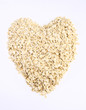 Heart shaped oatmeal