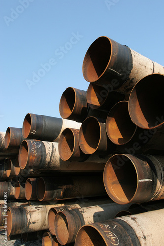 Industrial steel pipes pile
