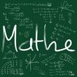 Mathematik Schrift auf Tafel