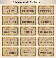 Spices Vectorset German 1