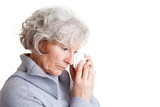 Traurige Seniorin