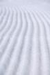 untouched ski track