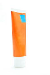 Orange Cream container isolated over the white