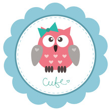 Cute baby-girl owlet