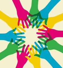 colorful teamwork