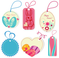 Price tags on Easter theme