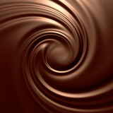 Fototapety Astonishing chocolate swirl. Backgrounds series.