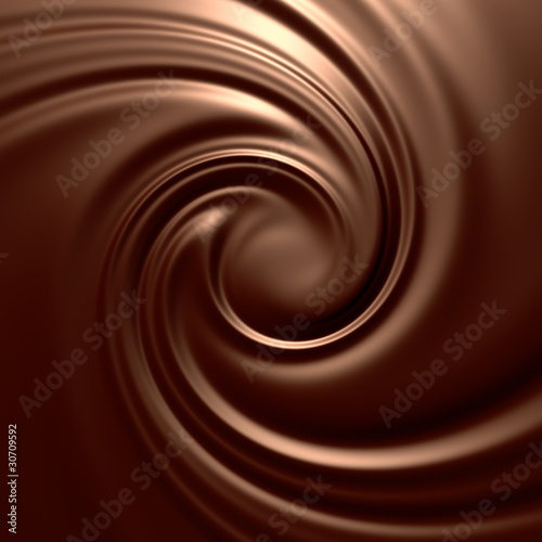 Astonishing chocolate swirl. Backgrounds series. - 30709592