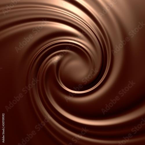 Astonishing chocolate swirl. Backgrounds series.