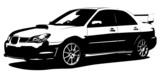 Vector hi-detailed car silhouette