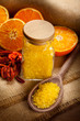 Orange Aromatherapy - bath salt and fruits