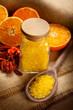 Orange Aromatherapy - bath salt and fruits