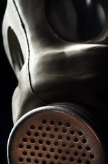 Closeup of a gasmask