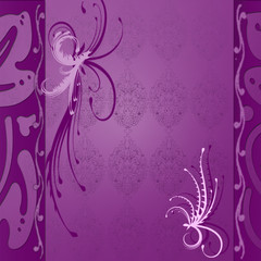 purple vintage floral background