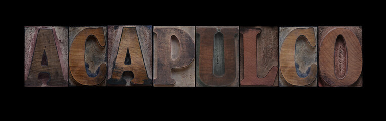 Acapulco in old wood type