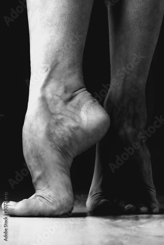 Foto op Canvas Dance School Contemporary Dancer Feet