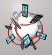 Smart Phones and Apps Global Communication Network