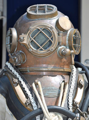 The Old U.S. Navy Mark V Diving Helmet