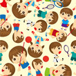 seamless sport people pattern