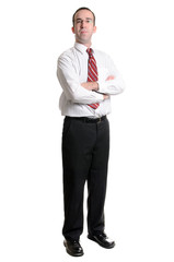 Businessman On White