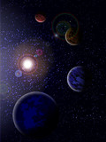 Fototapety Parade of planets
