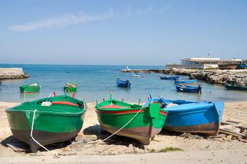 Panoramic view of Polignano a Mare seaport. Apulia.