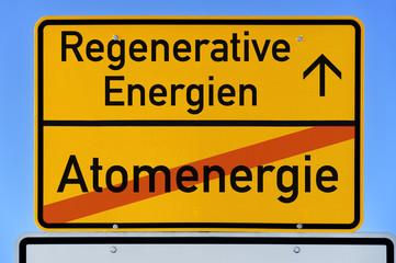 Ortsschild Ende der Atomenergie