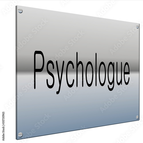 plaque 3d psychologue