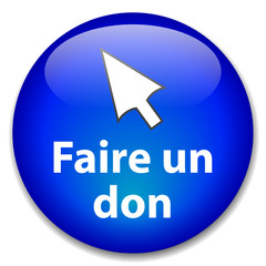 "Bouton Web ""FAIRE UN DON"" (donner de l'argent contribution)"