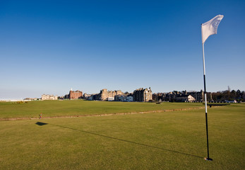 First green at St Andrews Old Course