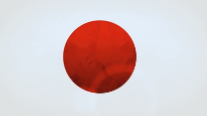 Japan flag spot wave animation