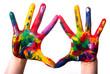 zwei bunte Hände V2