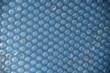 fond bleu bâche a bulles