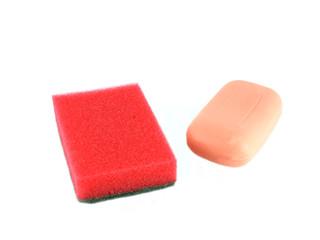Color sponges and soap