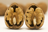 two walnut shells