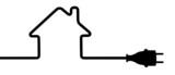 Power plug - house silhouette