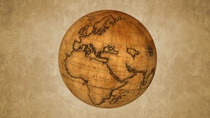 Spinning vintage globe