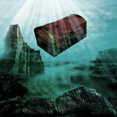 Sinking treasure chest