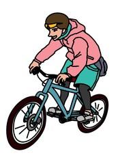 riding mountainbike