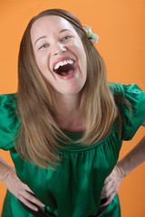 Woman Laughing Out Loud
