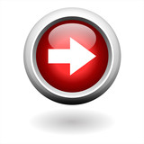Round Red Right Arrow Button