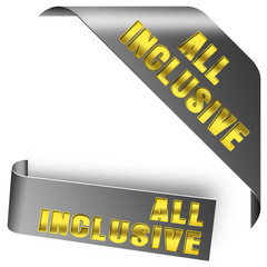 ALL INKLUSIVE button gold