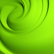 Abstract green whirlpool. Clean, detailed render.