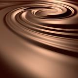 Fototapety Astonishing chocolate swirl. Clean, detailed render.
