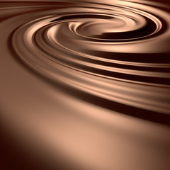 Astonishing chocolate swirl. Clean, detailed render.
