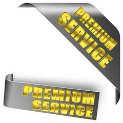PREMIUM SERVICE button set gold