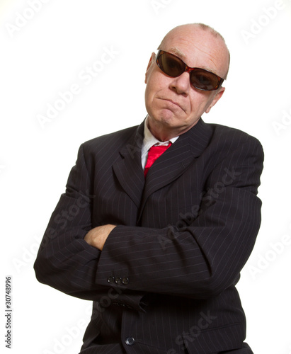 Expressive senior businessman