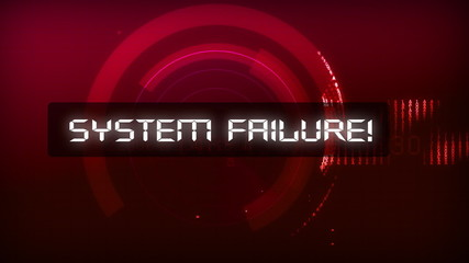 Computer interface - System failure