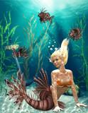 Fototapete Fisch - Graphical - Unterwasserlandschaft