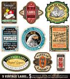 Etikety Vintage Kolekce-Set 5